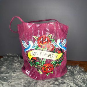 Ed Hardy Tote Bag 'Painted by Ed'